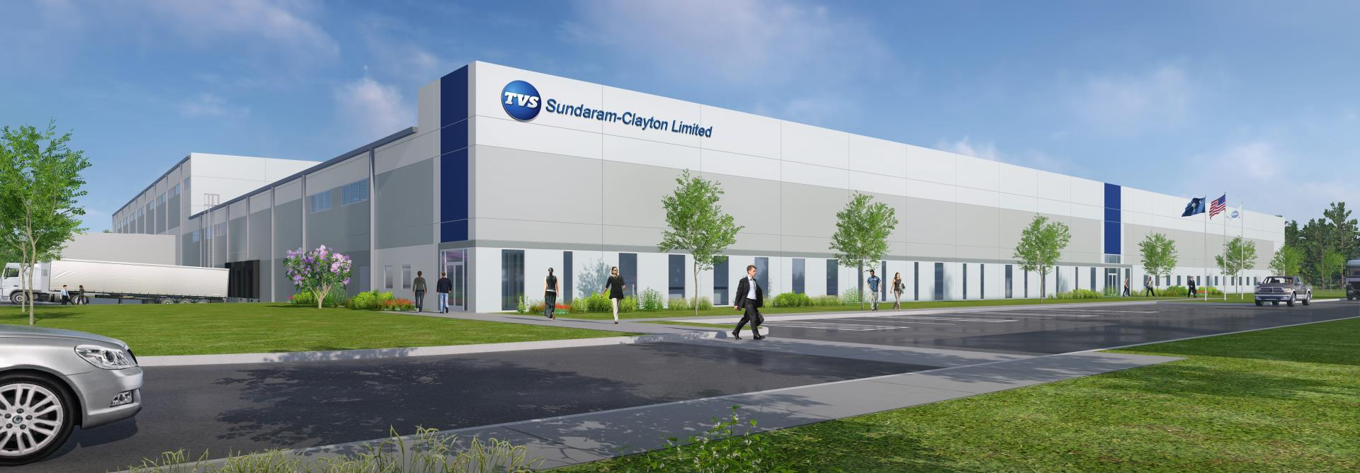 rendering of the Sundaram-Clayton facility at the Ridgeville Industrial Park