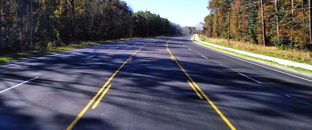 Completed Delmar Highway Widening Project