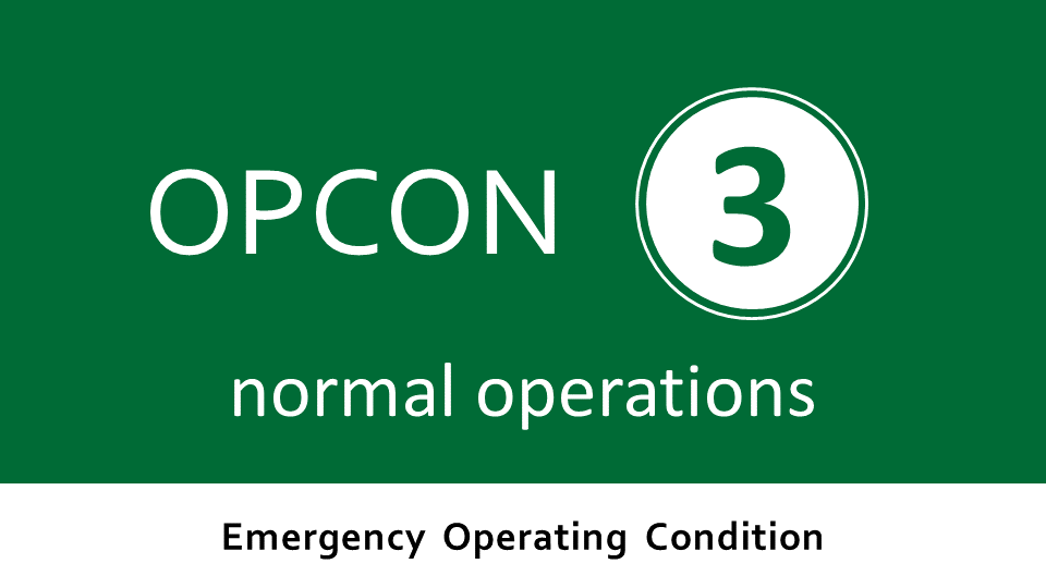 Emergency Operating Condition 5 - normal operations
