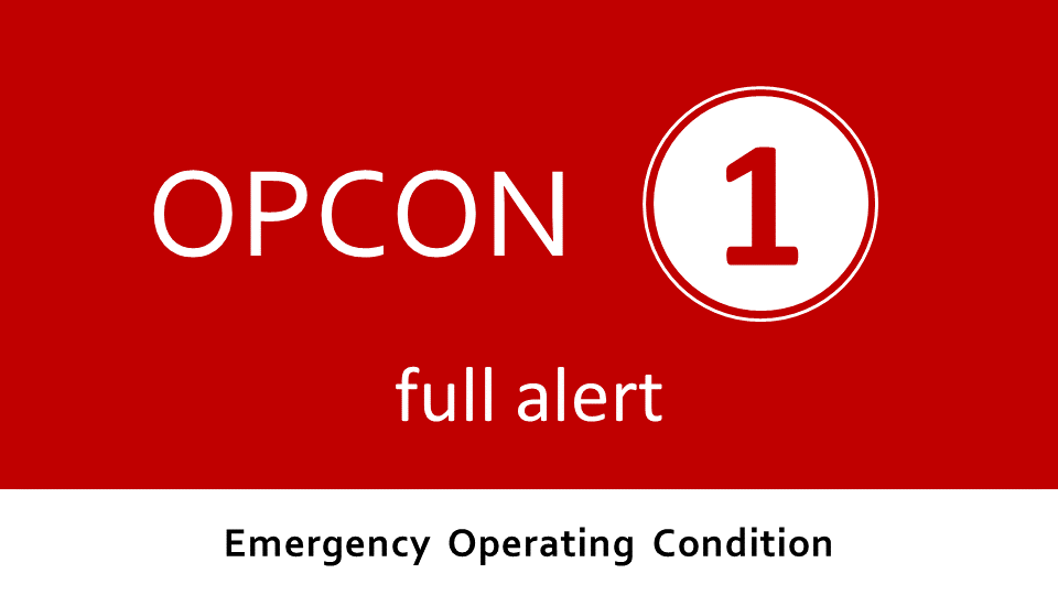 Emergency Operating Condition 1 - ongoing emergency
