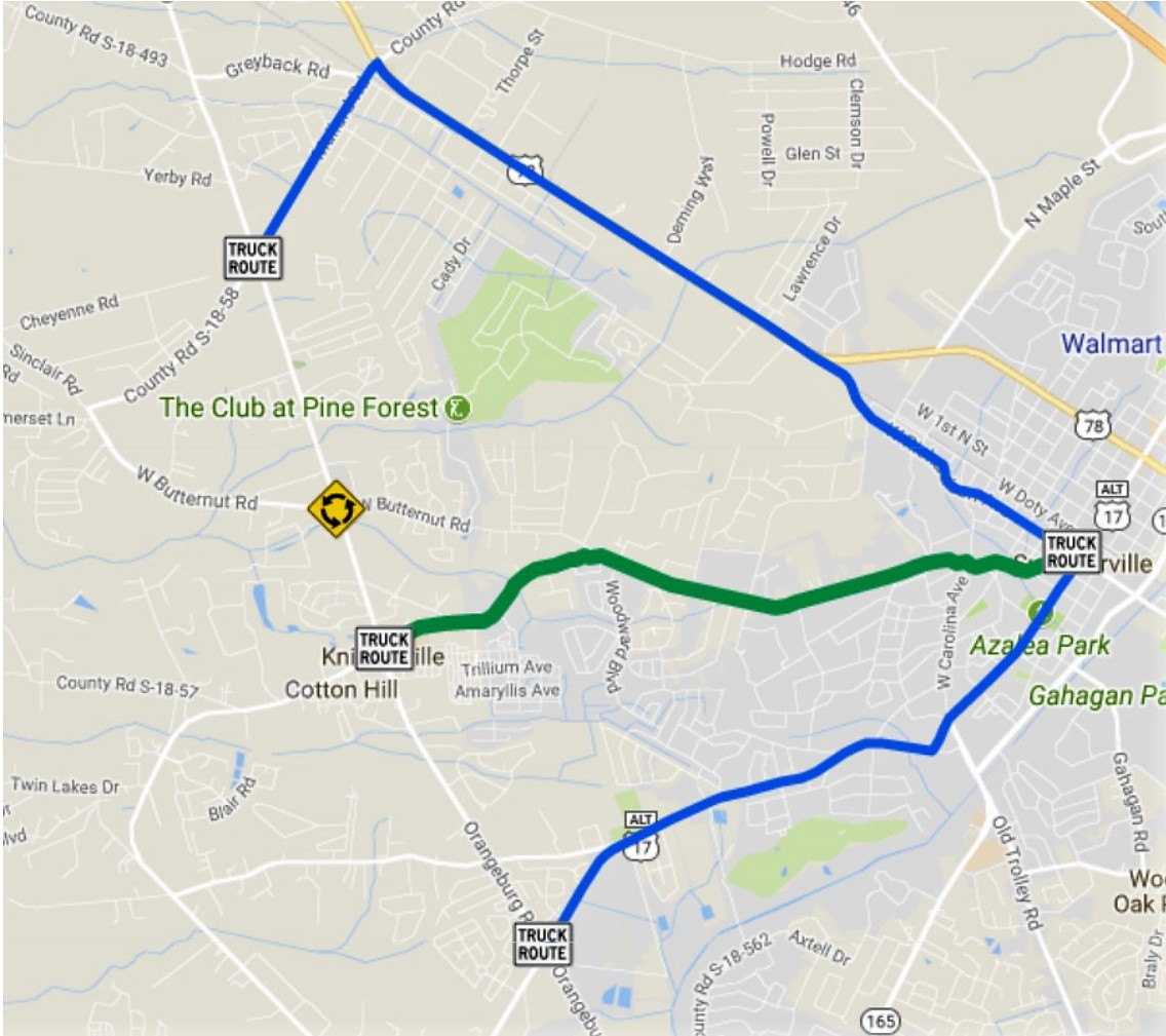 Truck Detour Map